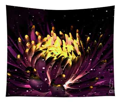 Abstract Digital Dahlia Floral Cosmos 891 Tapestry