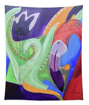 Abstract Flamingo 2 Tapestry