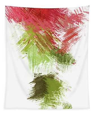 Abstract In Peach And Green - Dwp1952018 Tapestry
