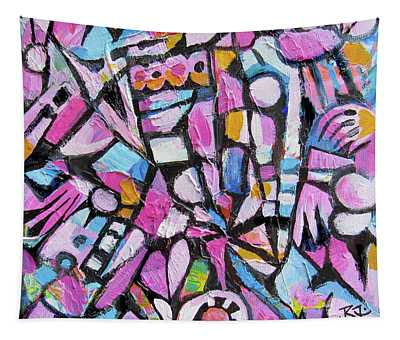 Abstract In Pink Tapestry