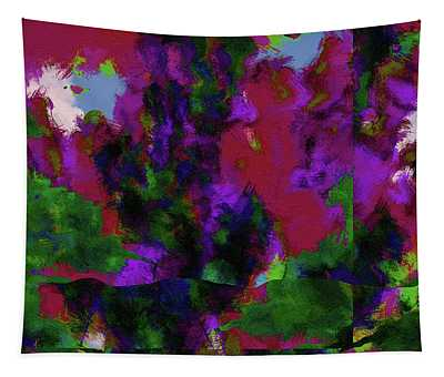 Abstract In Purple And Green - Dwp6004971 Tapestry