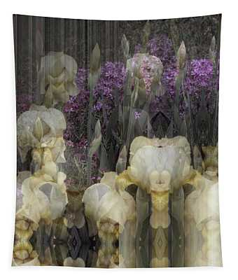 Abstract Iris Garden Tapestry