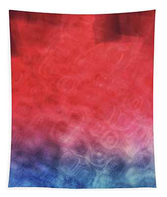 Abstract Of Patterns Of Blue, Red And Pink Colors Blurred And Blended Together Tapestry