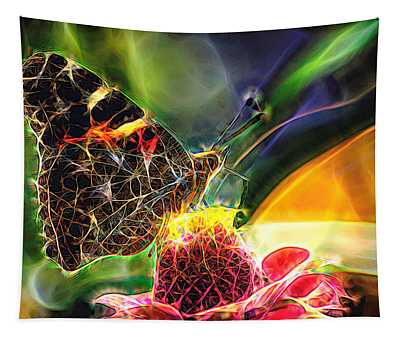 Abstract Painted Lady Butterfly Tapestry
