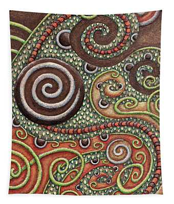 Abstract Spiral 10 Tapestry