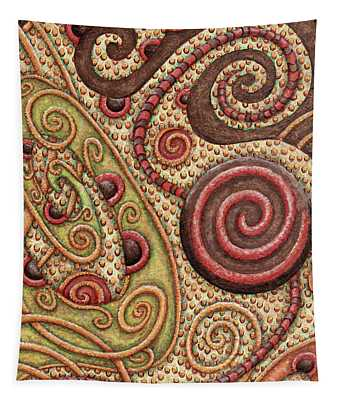 Abstract Spiral 4 Tapestry