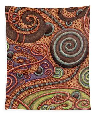 Abstract Spiral 5 Tapestry