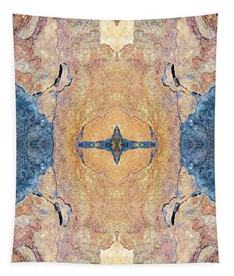 Abstract Stone Pattern Tapestry