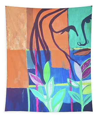 Abstract With Face Tapestry