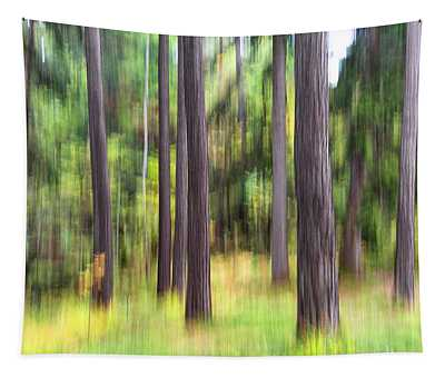 Abstract Wood Tapestry