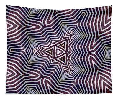 Abstract Zebra Design Tapestry