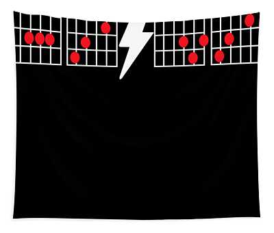 Ac Dc Tribute Guitar Chord Boxes New Short Sleeve Top Guita Tapestry
