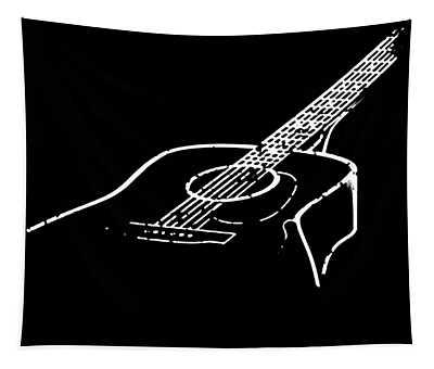 Acoustic Guitar Musician Play Instrument Love Music Men_s Guitar Tapestry