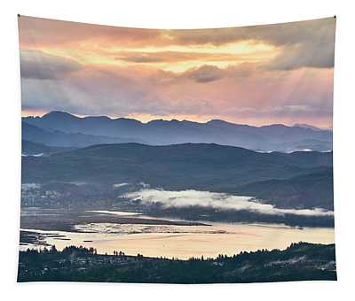 Tapestry featuring the photograph Across The Bay by Whitney Goodey