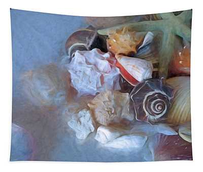 Adjacent Shells With Chalk Effect 24 Tapestry