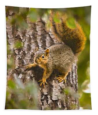 Adorable Intruder, Painterly Version Tapestry
