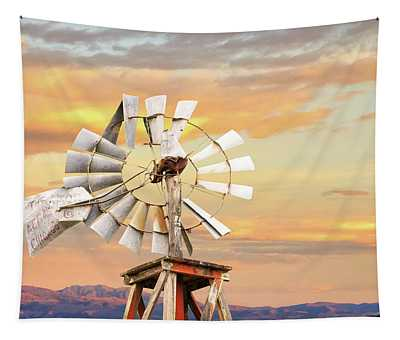 Aermotor Windmill Up Close Tapestry