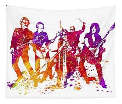Aerosmith Band Watercolor Splatter 01 Tapestry
