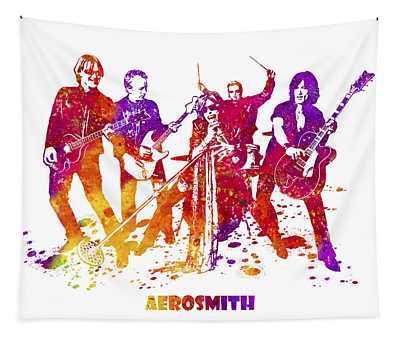 Aerosmith Band Watercolor Splatter 03 Tapestry