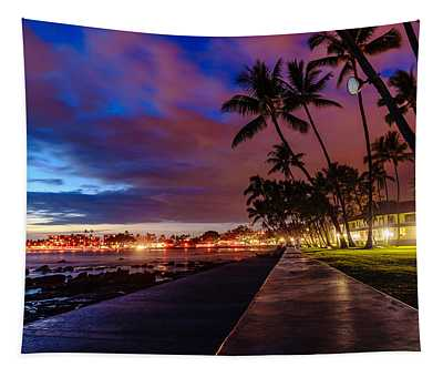 After Sunset At Kona Inn Tapestry
