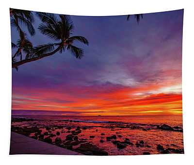 After Sunset Vibrance Tapestry