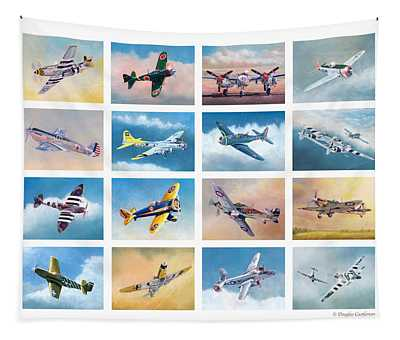Airplane Poster Tapestry