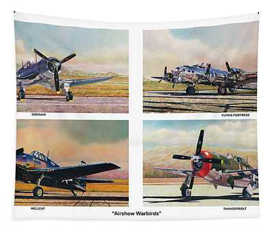 Airshow Warbirds Tapestry