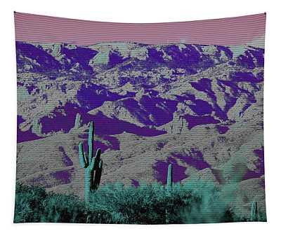 Alien Colors On Mount Lemmon Tapestry