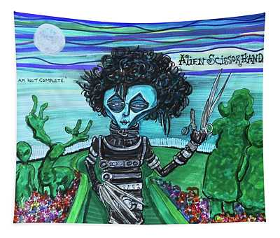 Alien Scissorhands Tapestry