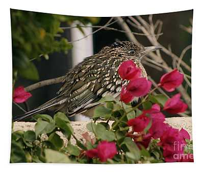 All Puffed Up Road Runner Tapestry