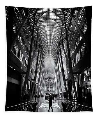 Tapestry featuring the photograph Allen Lambert Galleria Toronto Canada No 2 by Brian Carson