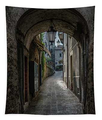 Tapestry featuring the photograph Alleys Of San Marino by Jaroslaw Blaminsky