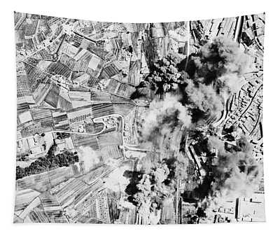Allied Aerial Bombardment - Ww2 Italy - 1943 Tapestry