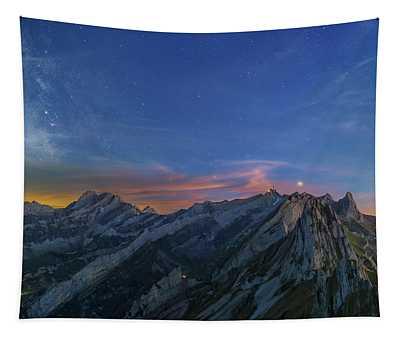 Alpstein Blues Tapestry
