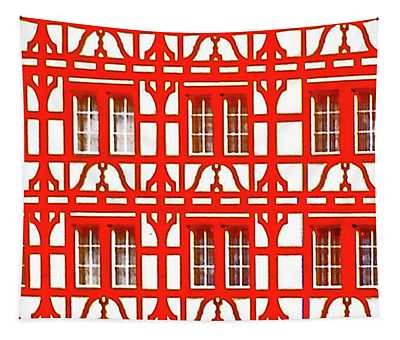 Altstadt  Old Town Lucerne Swiss Windows  Tapestry