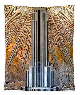 Aluminum Relief Inside The Empire State Building - New York Tapestry