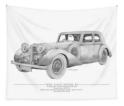 Alvis Speed 25 Saloon Tapestry