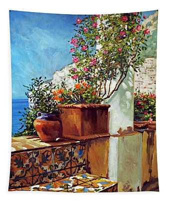 Amalfi Coast Impressions Tapestry