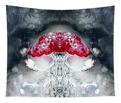 Tapestry featuring the painting Amanita  by 'REA' Gallery