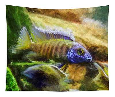 Amazing Peacock Cichlid Tapestry