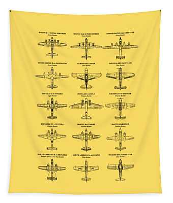 American Bomber Aircraft Of Ww2 Tapestry