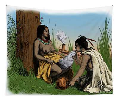 American Indian Midwife Tapestry