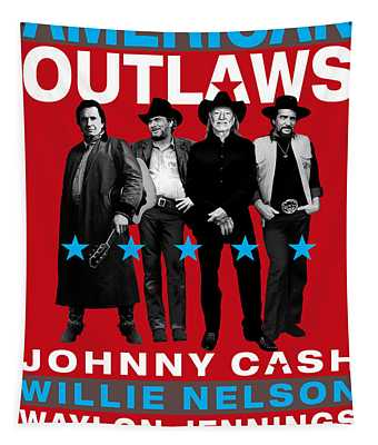 American Outlaws - The Coolest Gang Of Country Stars In Town Tapestry