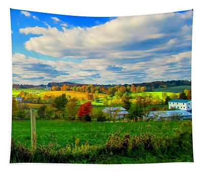 Amish Farm Beauty Tapestry