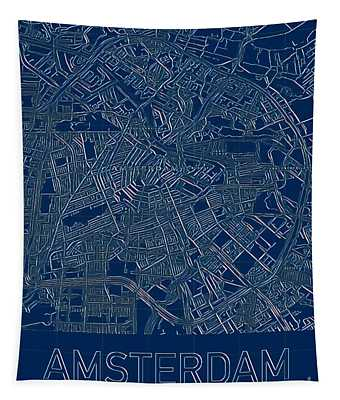 Amsterdam Blueprint City Map Tapestry