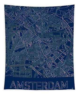 Amsterdam Blueprint City Map Tapestry