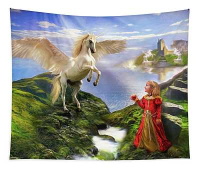 An Apple For Pegasus Tapestry