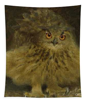 An Eagle Owl, 1905 Tapestry