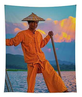 An Intha Fisherman Tapestry
