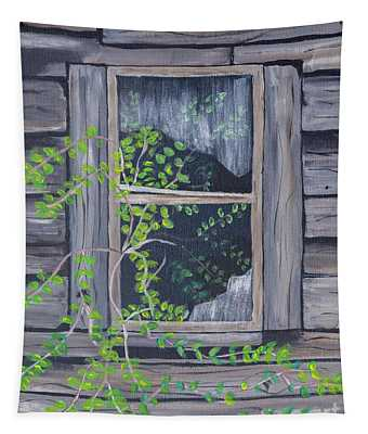 An Old Shed Window Tapestry